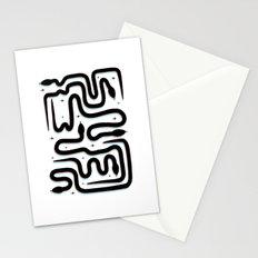 Black snakes Stationery Cards