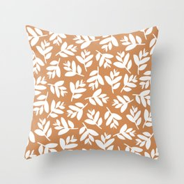 Sprigs | sunset orange  Throw Pillow
