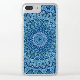 Blissful Blue - Mandala Art Clear iPhone Case