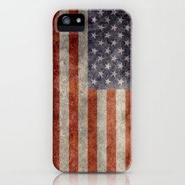 USA flag - Retro vintage Banner iPhone Case