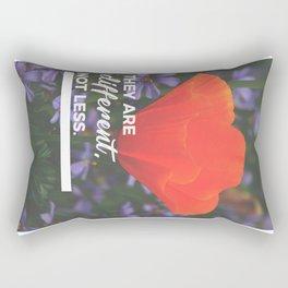 Different Not Less Autistic Child Autism Parent Rectangular Pillow