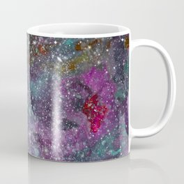 Floating in Space - Watercolor Galaxy Painting Laced with Stars Coffee Mug