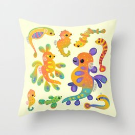 Pipefish - bright Throw Pillow