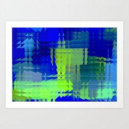 Square glass 7 Art Print
