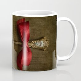 Red bow and ornamented spoon Coffee Mug