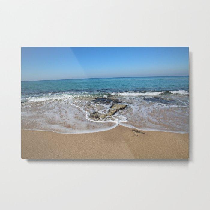 wave and blue sky Metal Print