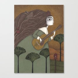 The Guitar Player Canvas Print