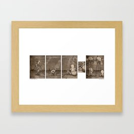 Diving Hosed Framed Art Print