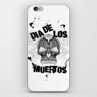dia de los muertos iPhone & iPod Skins featuring Dia De Los Muertos by Digi Treats 2