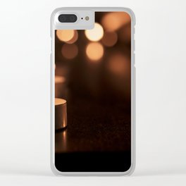 Candles Clear iPhone Case