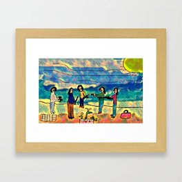 drug trafficking Framed Art Print