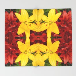 """A Gathering of Lilies"" Remix - 3 (4-1) [D4468~49] Throw Blanket"