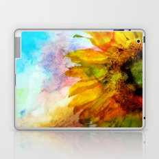 Sunflower on colorful watercolor background- Flowers on #Society6 Laptop & iPad Skin