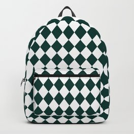Forest Biome Green Modern Diamond Pattern Backpack