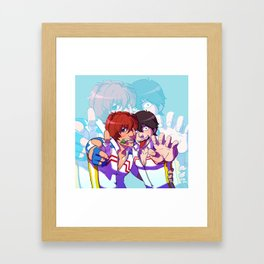 yowapeda Shinkai & Arakita Framed Art Print