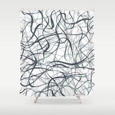 curvy gray & black Shower Curtain