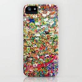 Pike Place Gum Wall, Seattle, WA iPhone Case