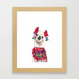 Coolest Llama Framed Art Print