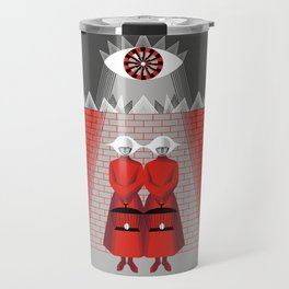 The Wall - The Red Handmaid Collection by ©2018 Balbusso Twins Travel Mug