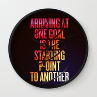 lettering Wall Clocks featuring Lettering 002 by Noem9 Studio