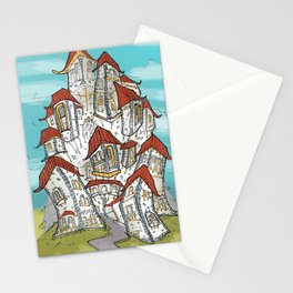 Medievil town Stationery Cards