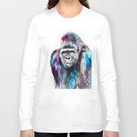 gorilla Long Sleeve T-shirts featuring Gorilla by Slaveika Aladjova