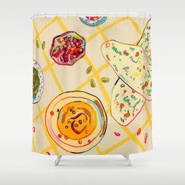 LEBANESE DINNER STILL LIFE Shower Curtain