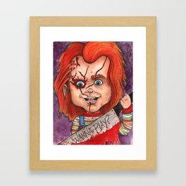 Wanna Play? Framed Art Print