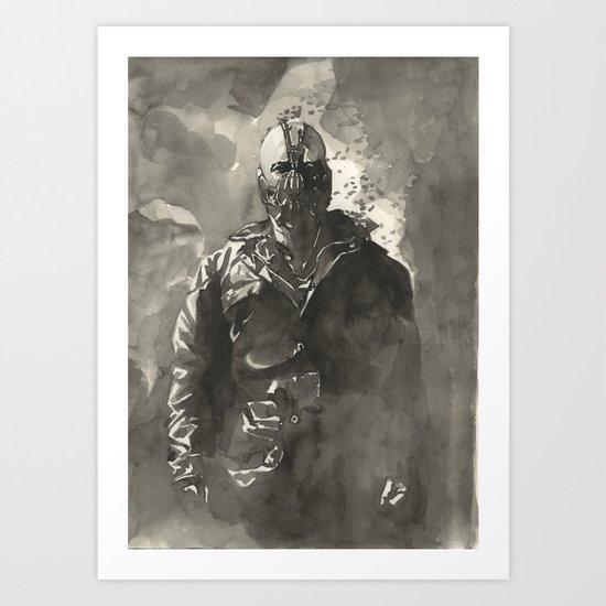 TDKR-bane Art Print