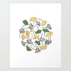 The Gingko Remains Art Print