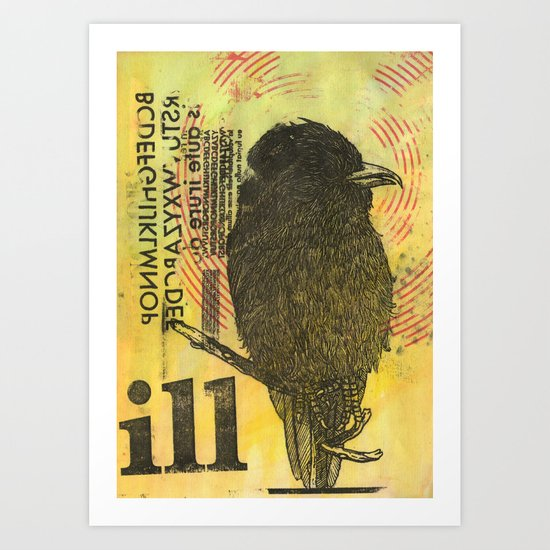 Bird illustration Art Print