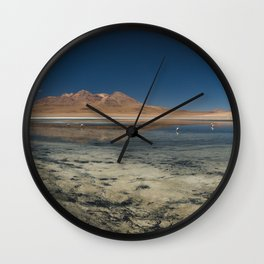 Panorama of Laguna Cañapa, Bolivia Wall Clock