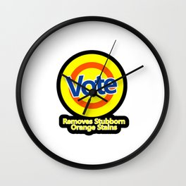 vote removes stubborn orange stains Wall Clock