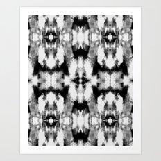 Tie Dye Blacks Art Print