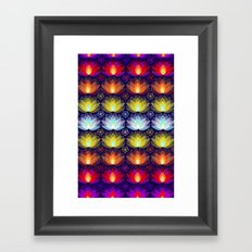 Variations on a Lotus I - Sparkle Brightly Framed Art Print