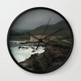 Montaña De Oro Stormy Hills Wall Clock
