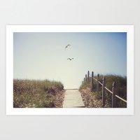 Gull Greetings  Art Print