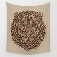 royal Wall Tapestries featuring Lion (Royal) 2.0 by Norman Duenas