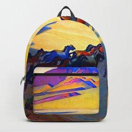 Maynard Dixon Wild Horses Backpack