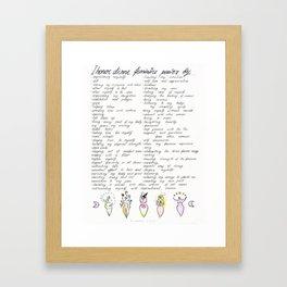 Honor Divine Feminine Framed Art Print