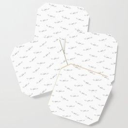 Flying Fuck - White - Pattern Coaster