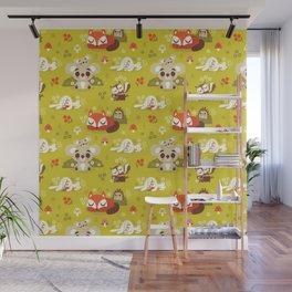 Sleeping Woodland Animals Wall Mural