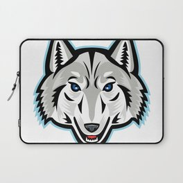 Artic Wolf Head Front Mascot Laptop Sleeve