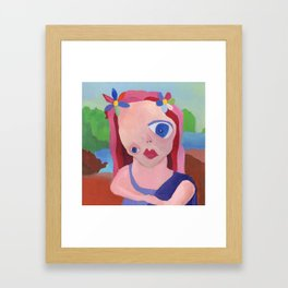 Mona Lisa Gets a Makeover Framed Art Print