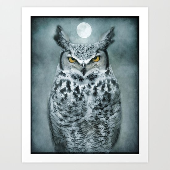 By the light of the Moon... Art Print