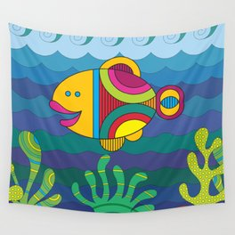 Stylize fantasy fish under water Wall Tapestry
