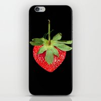 strawberry iPhone & iPod Skins featuring strawberry by Arevik Martirosyan