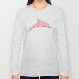 Origami Dolphin Long Sleeve T-shirt