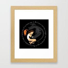 Ripley, the Alien and Jonesy Framed Art Print