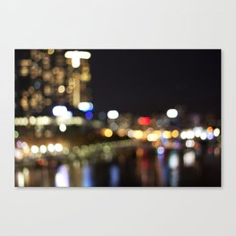 Light Art | Melbourne city (Yarra River) Canvas Print